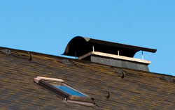 Inspection Camera / Chimney Camera in a chimney roof.