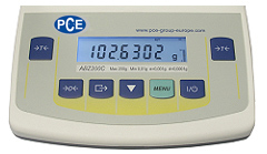 Analytical Scale PCE-ABZ200: Backlit display.