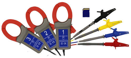 Here you can see the optional accessories of the PCE-PA 8000 three-phase power analyzer.
