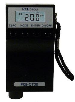 the PCE-CT 30 coating thickness meter for measuring coatings on steel or non.ferrous metals.