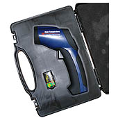 PCE-889 infrared thermometer in its carrying case, ready to go