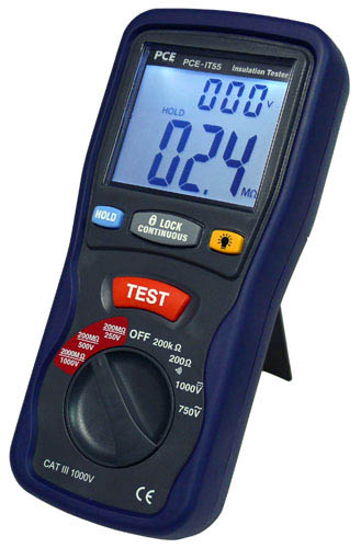 the PCE-IT 55 insulation meter
