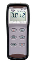 PCE-P 15 / 30 / 50 series Differential Pressure Meter with RS-232 interface, software, positive and negative pressure, differential.
