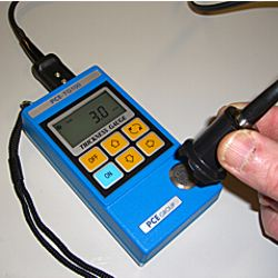 recalibration of the PCE-TG100 material thickness meter