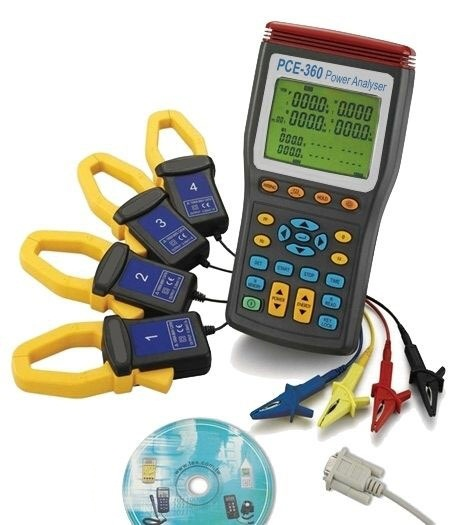 The PCE-360 power analyzer is ideal to perform an analysis over a long period of time.