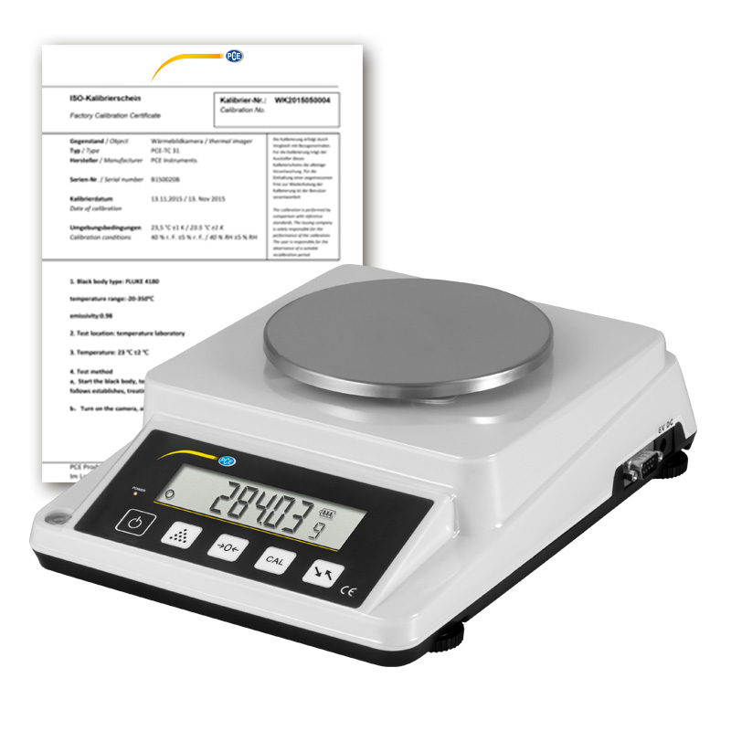 Laboratory Balance Scale PCE-DMS 310-ICA Incl. ISO ...