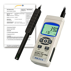 Air Humidity Meter PCE-313A-ICA incl. ISO Calibration Certificate