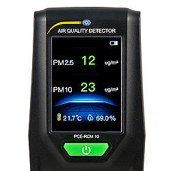 Air Quality Particle Counting Meter PCE-RCM 10 Display