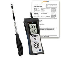 Air Velocity Meter PCE-423-ICA incl. ISO calibration certificate