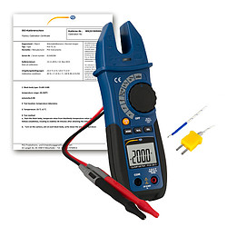 Clamp on Tester PCE-CM 3-ICA incl. ISO Calibration Certificate