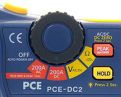 Clamp on Tester PCE-DC2-ICA incl. ISO Calibration Certificate