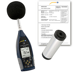 Class 2 Data Logging Noise Meter / Sound Meter Kit PCE-428-KIT-ICA incl. ISO Cal. Certs.