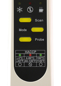 Contact thermometer PCE-IR 100 display