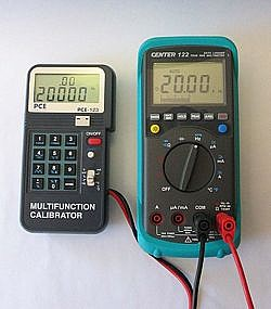 Current Calibrator PCE-123 application frequency