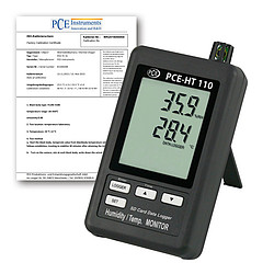 Datalogging Humidity Detector w/ Calibration Certificate PCE-HT110-ICA
