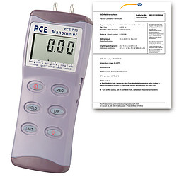 Differential Pressure Manometer PCE-P30-ICA Incl. ISO Calibration Certificate