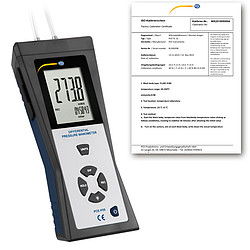 Differential Pressure Meter PCE-P05-ICA incl. ISO calibration certificate