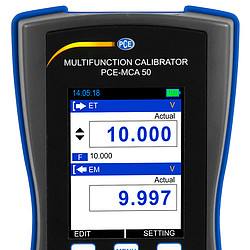 Digital Multimeter / Simulator PCE-MCA 50 display