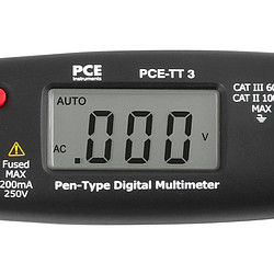 Digital Multimeter PCE-TT 3 display