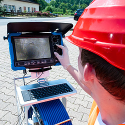 Application of a Drain camera.