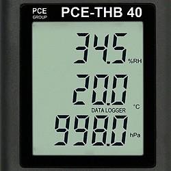 Environmental meter PCE-THB 40 display