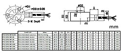 Force Gauge PCE-DFG NF 1K technical drawing load cell dimensions