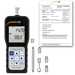 Force Gauge PCE-FM 200-ICA incl. ISO Calibration Certificate