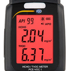 VOC Gas Detector PCE-VOC 1 Red Display Visual Alarm