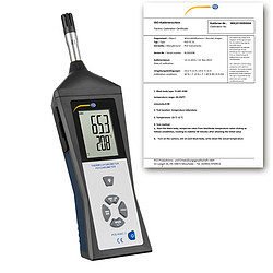 Handheld Humidity Detector PCE-HVAC 3-ICA Incl. ISO Calibration Certificate