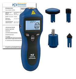 Handheld Tachometer PCE-DT 65-ICA Incl. ISO Calibration Certificate