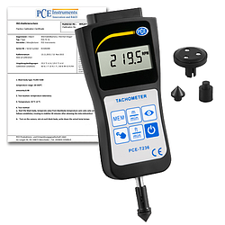 Handheld Tachometer PCE-T236-ICA Incl. ISO Calibration Certificate