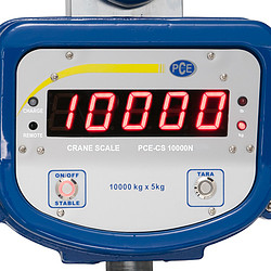 Hanging scales PCE-CS 10000N display