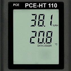 Data logger PCE-HT 110 display