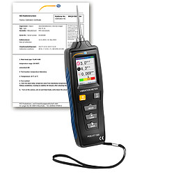 HVAC Meter PCE-VT 1300S-ICA incl. ISO Calibration Certificate