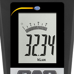 Illuminometer PCE-172 front display