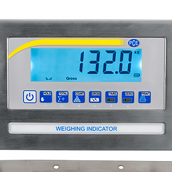 Industrial Pallet Scale PCE-EP 1500 display