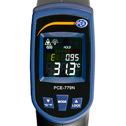 Infrared Thermometer PCE-779N Display