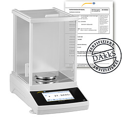 LAB Scale PCE-ABT 220-DAkkS Incl. DAkkS Calibration Certificate
