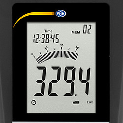 Lux Meter incl. ISO Calibration Certificate PCE-174-ICA display