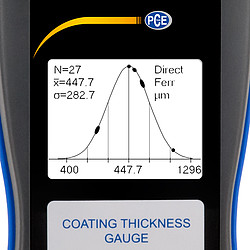 Coating Thickness Gauge PCE-CT 100 Graph