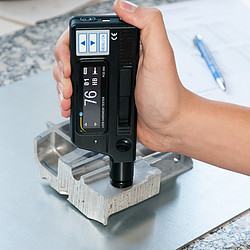 Handheld Material Hardness Tester PCE-950 in Use