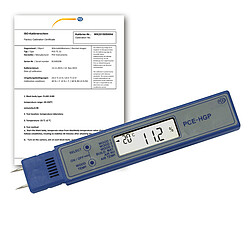 Moisture Tester for Wood PCE-HGP-ICA incl. ISO Calibration Certificate