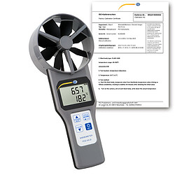 Multifunction Air Flow Meter PCE-VA 20-ICA incl. ISO Calibration Certificate
