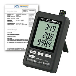Multifunction Data Logger PCE-THB 40-ICA incl. ISO Calibration Certificate