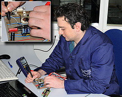 Electrical Tester PCE-EM 886 application
