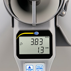 Multifunction HVAC Meter with Flow Hoods PCE-VA 20-SET Meter Display