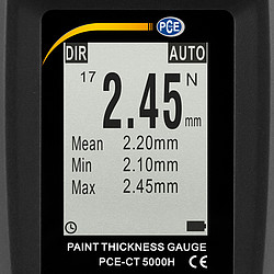 Coating Thickness Gauge PCE-CT 5000H Display Non-Ferrous