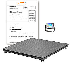 Parcel Scale PCE-RS 2000-ICA incl. ISO Calibration Certificate