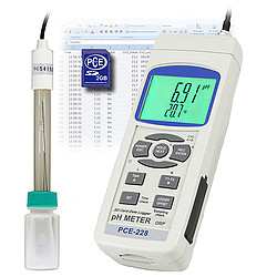 pH meter PCE-228-MSR100 incl. magnetic stirrer PCE-MSR 100