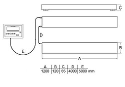 Portable Industrial Pallet Scale PCE-SW 1500N Diagram